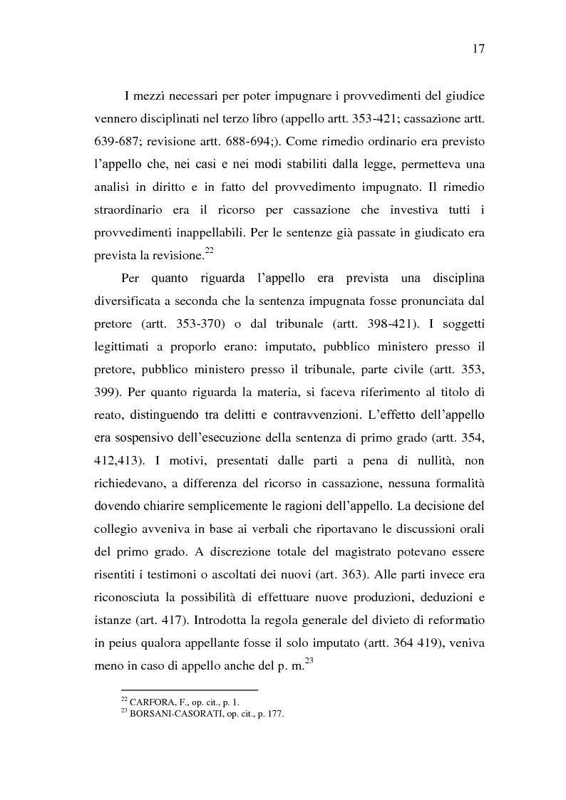 Anteprima della tesi: Sistema Accusatorio ed Impugnazioni, Pagina 13
