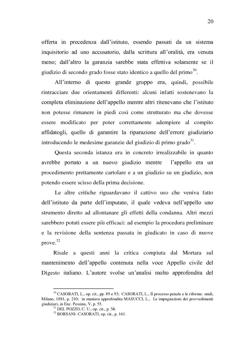 Anteprima della tesi: Sistema Accusatorio ed Impugnazioni, Pagina 16
