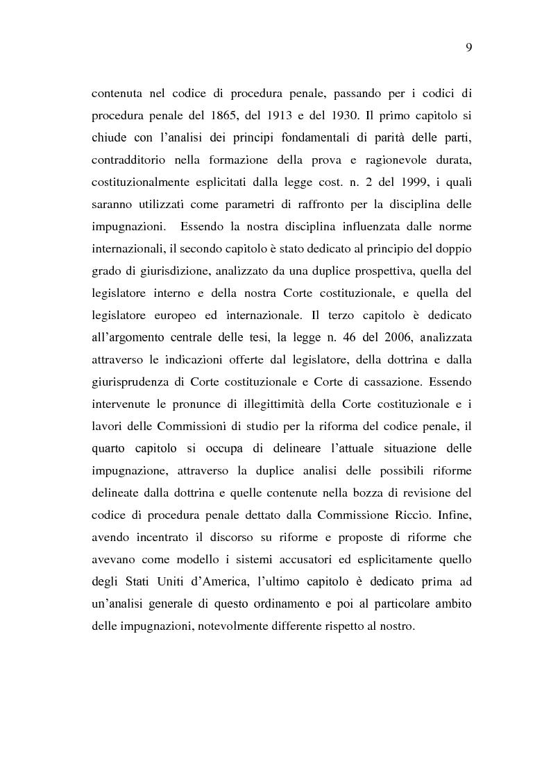 Anteprima della tesi: Sistema Accusatorio ed Impugnazioni, Pagina 5