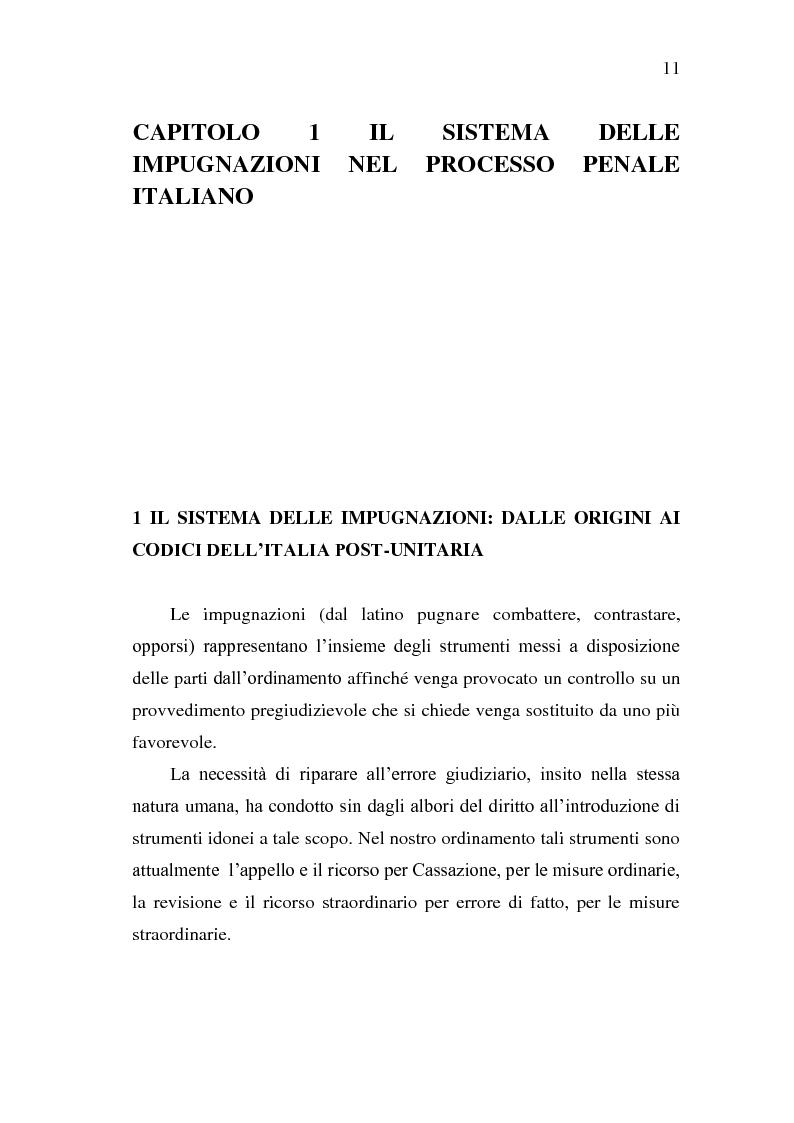 Anteprima della tesi: Sistema Accusatorio ed Impugnazioni, Pagina 7