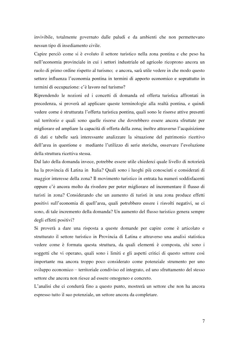 Anteprima della tesi: Criticità e potenzialità di sviluppo del settore turistico in provincia di Latina, Pagina 3