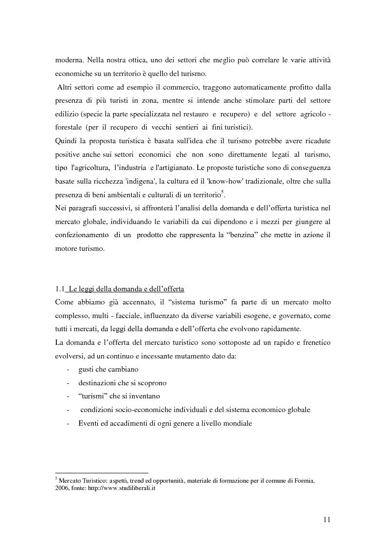 Anteprima della tesi: Criticità e potenzialità di sviluppo del settore turistico in provincia di Latina, Pagina 7
