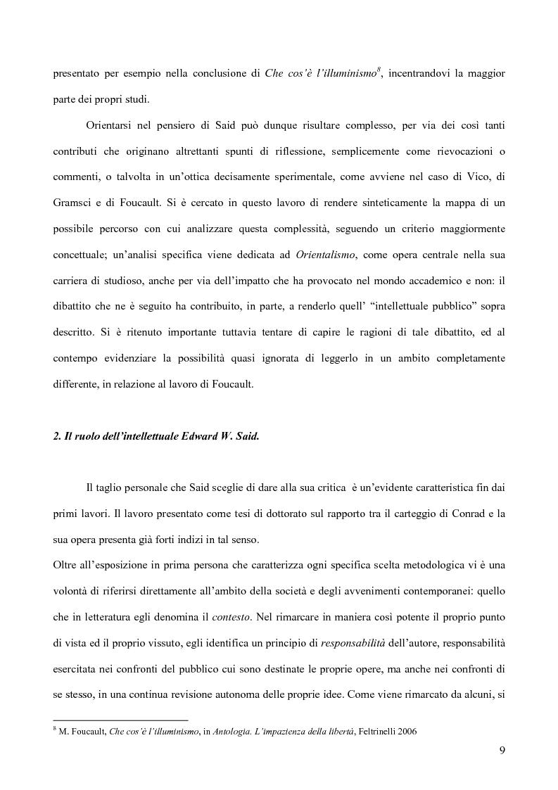 Anteprima della tesi: Il discorso dell'Altro. L'opera critica di Edward W. Said nel segno di Foucault, Pagina 10