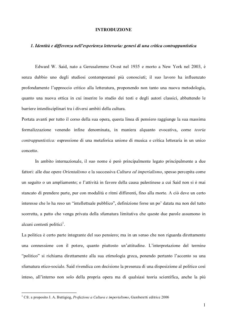 Anteprima della tesi: Il discorso dell'Altro. L'opera critica di Edward W. Said nel segno di Foucault, Pagina 2