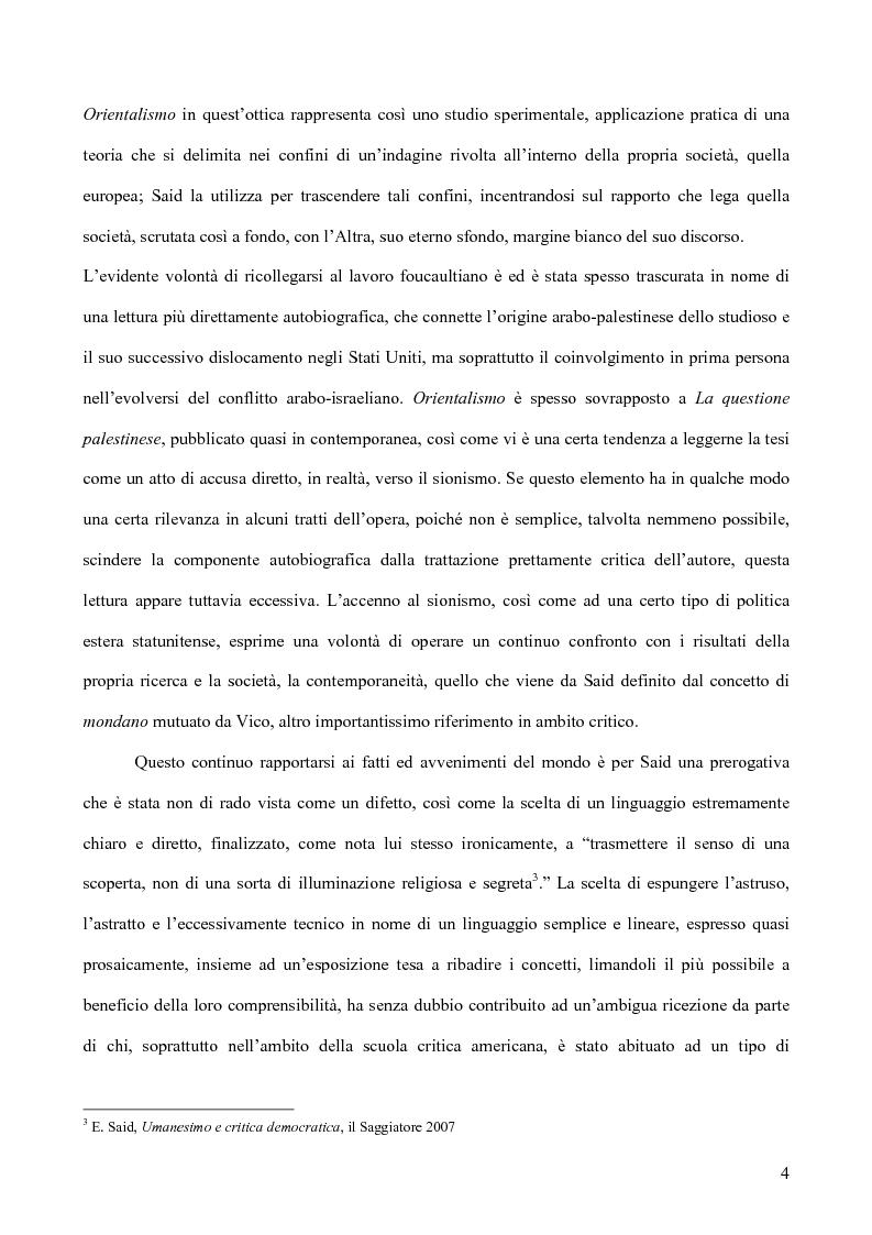 Anteprima della tesi: Il discorso dell'Altro. L'opera critica di Edward W. Said nel segno di Foucault, Pagina 5