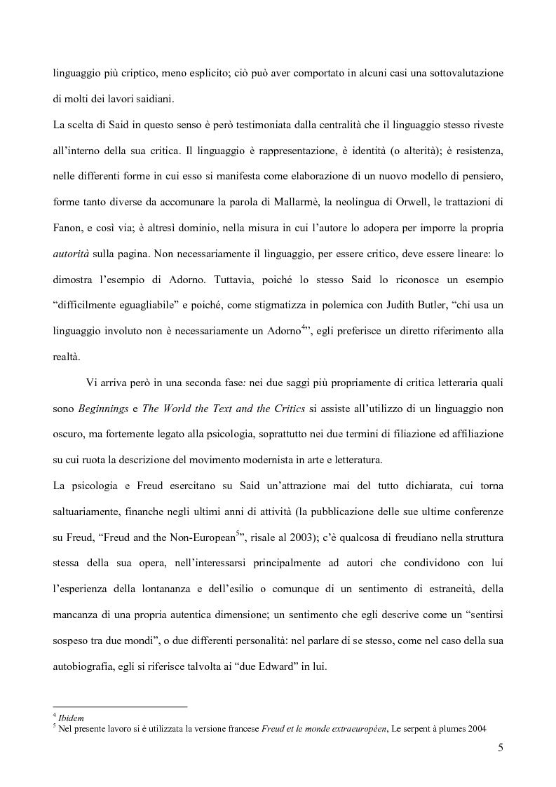 Anteprima della tesi: Il discorso dell'Altro. L'opera critica di Edward W. Said nel segno di Foucault, Pagina 6