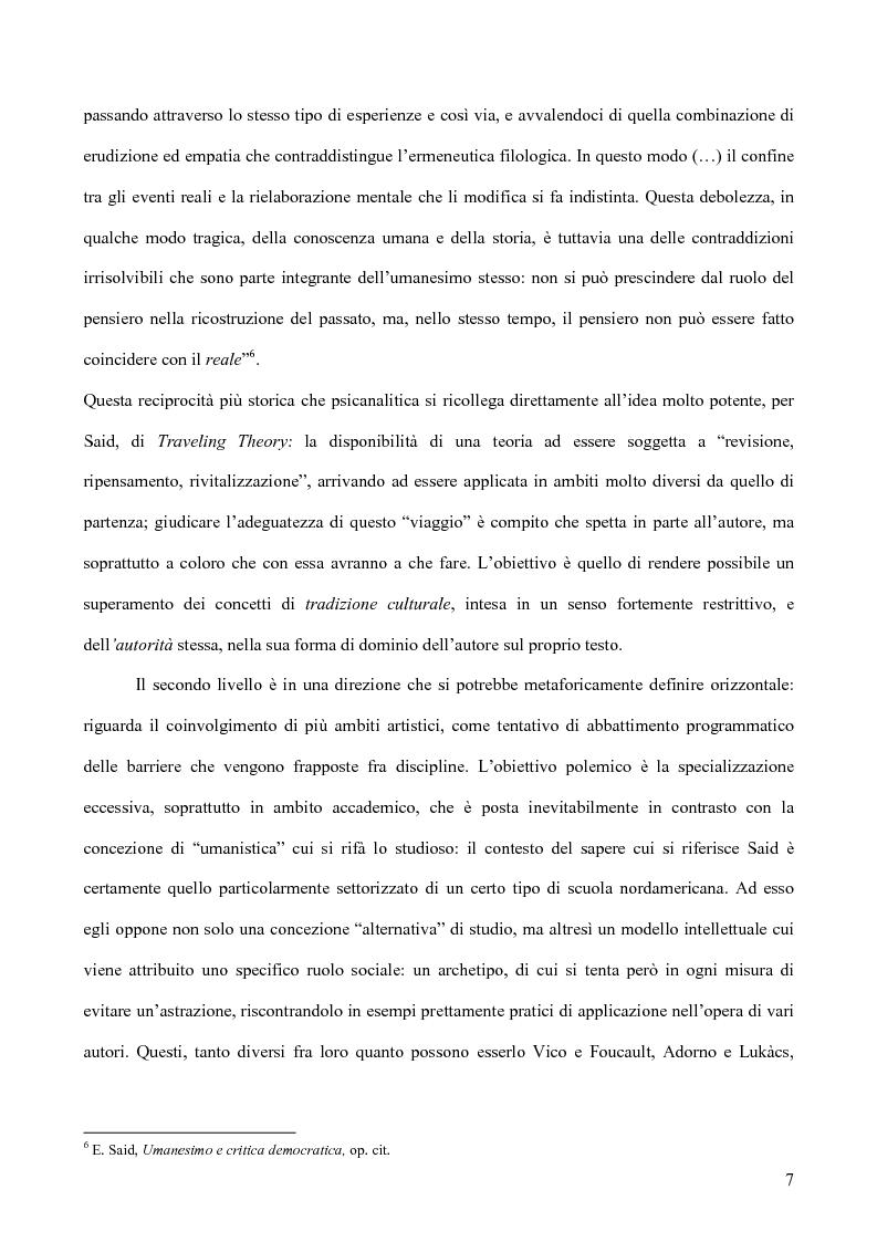 Anteprima della tesi: Il discorso dell'Altro. L'opera critica di Edward W. Said nel segno di Foucault, Pagina 8