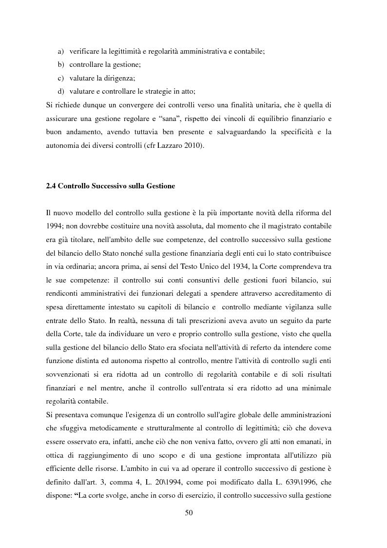 Anteprima della tesi: L'Audit Society in Italia. Analisi del sistema dei controlli della Corte dei conti, del Sistema sanitario nazionale e del Sistema universitario, Pagina 14