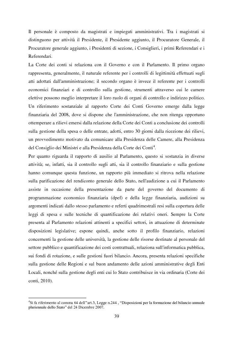 Anteprima della tesi: L'Audit Society in Italia. Analisi del sistema dei controlli della Corte dei conti, del Sistema sanitario nazionale e del Sistema universitario, Pagina 3
