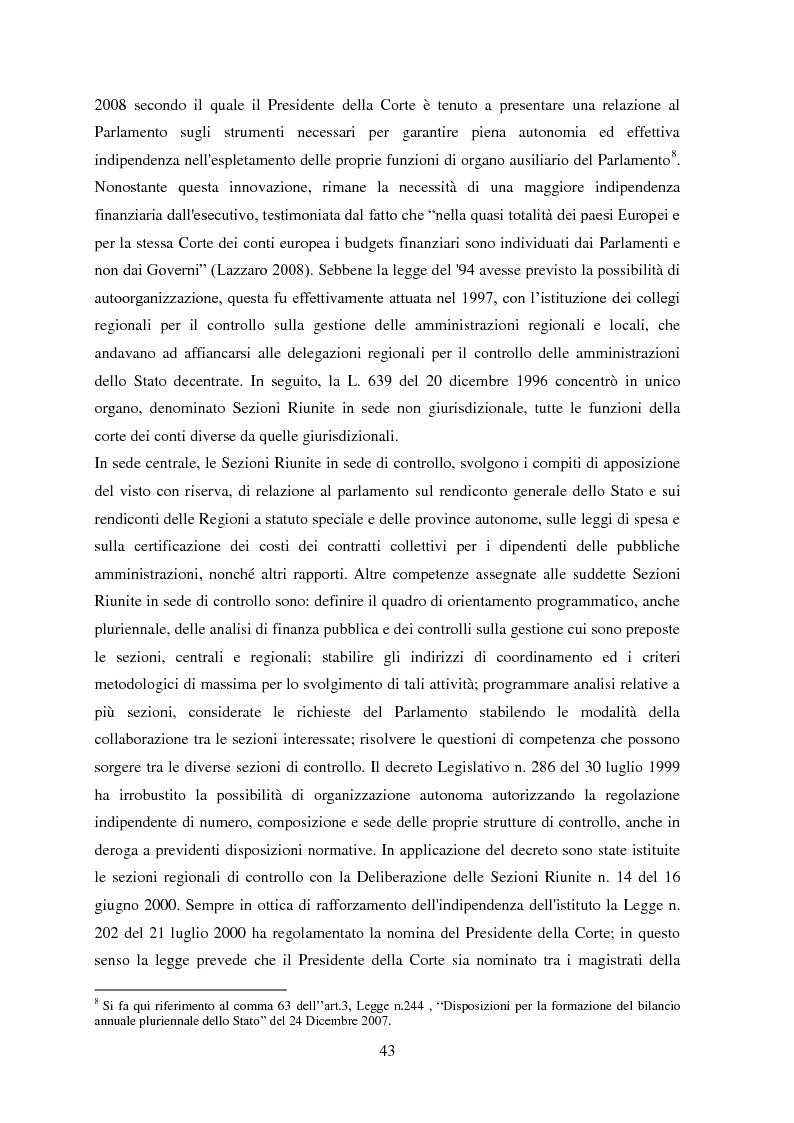 Anteprima della tesi: L'Audit Society in Italia. Analisi del sistema dei controlli della Corte dei conti, del Sistema sanitario nazionale e del Sistema universitario, Pagina 7
