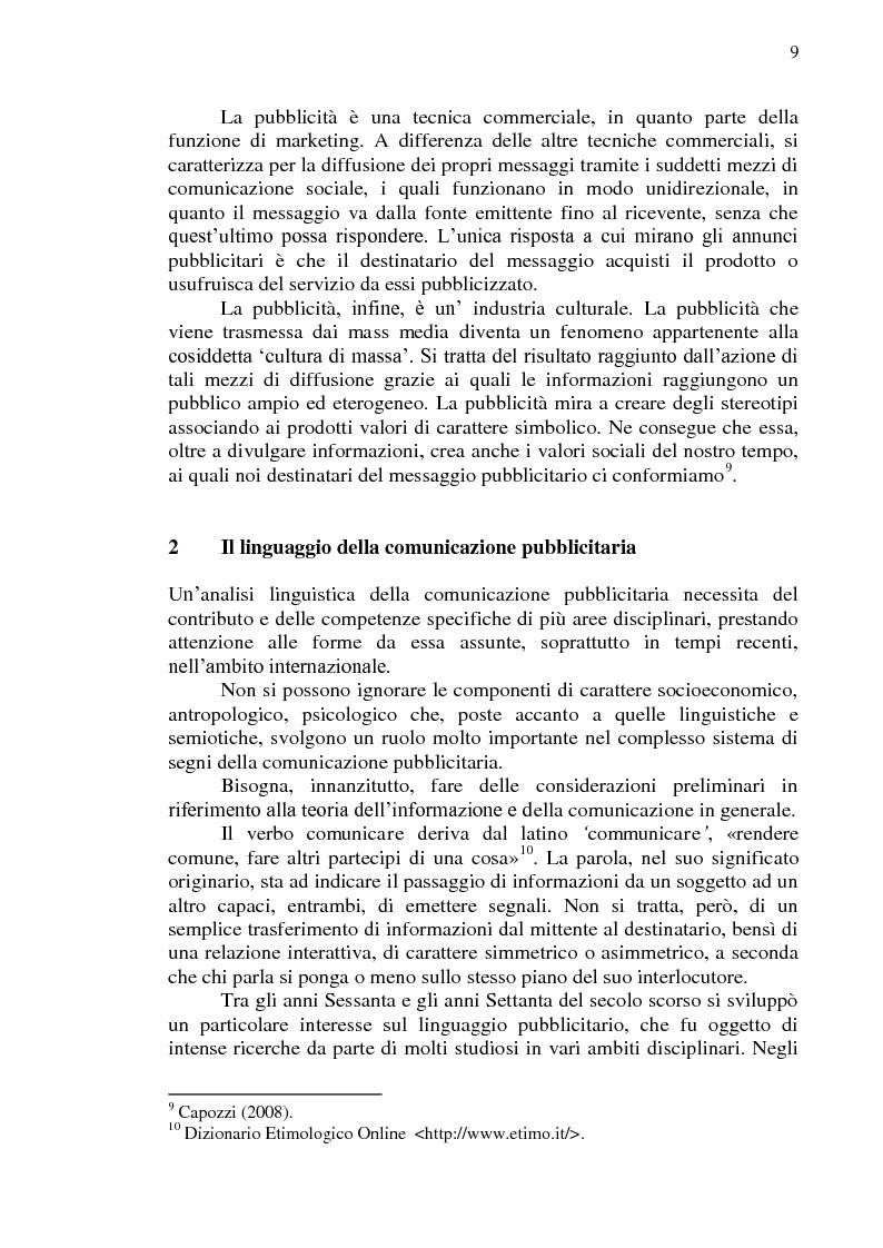 Anteprima della tesi: La comunicazione pubblicitaria online in tedesco e italiano: il caso BMW, Pagina 10