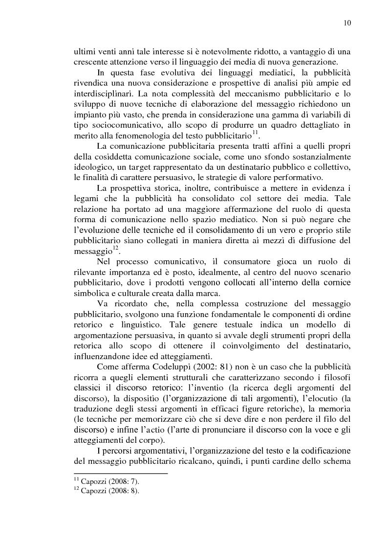 Anteprima della tesi: La comunicazione pubblicitaria online in tedesco e italiano: il caso BMW, Pagina 11