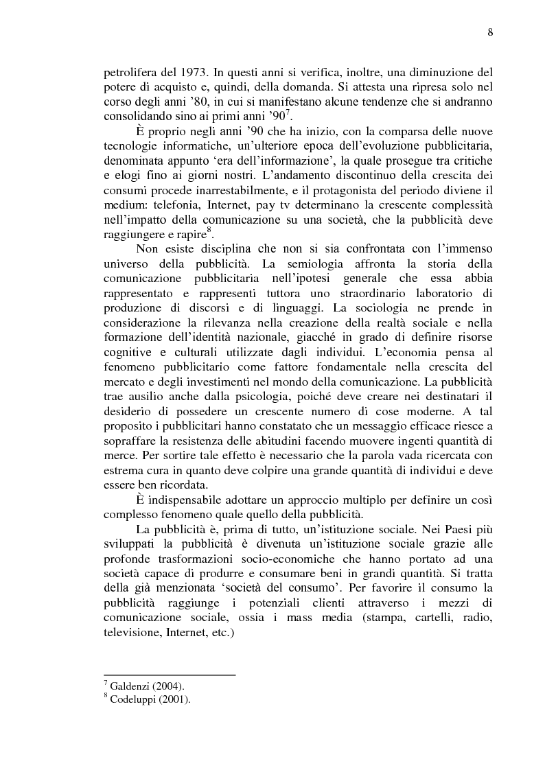 Anteprima della tesi: La comunicazione pubblicitaria online in tedesco e italiano: il caso BMW, Pagina 9