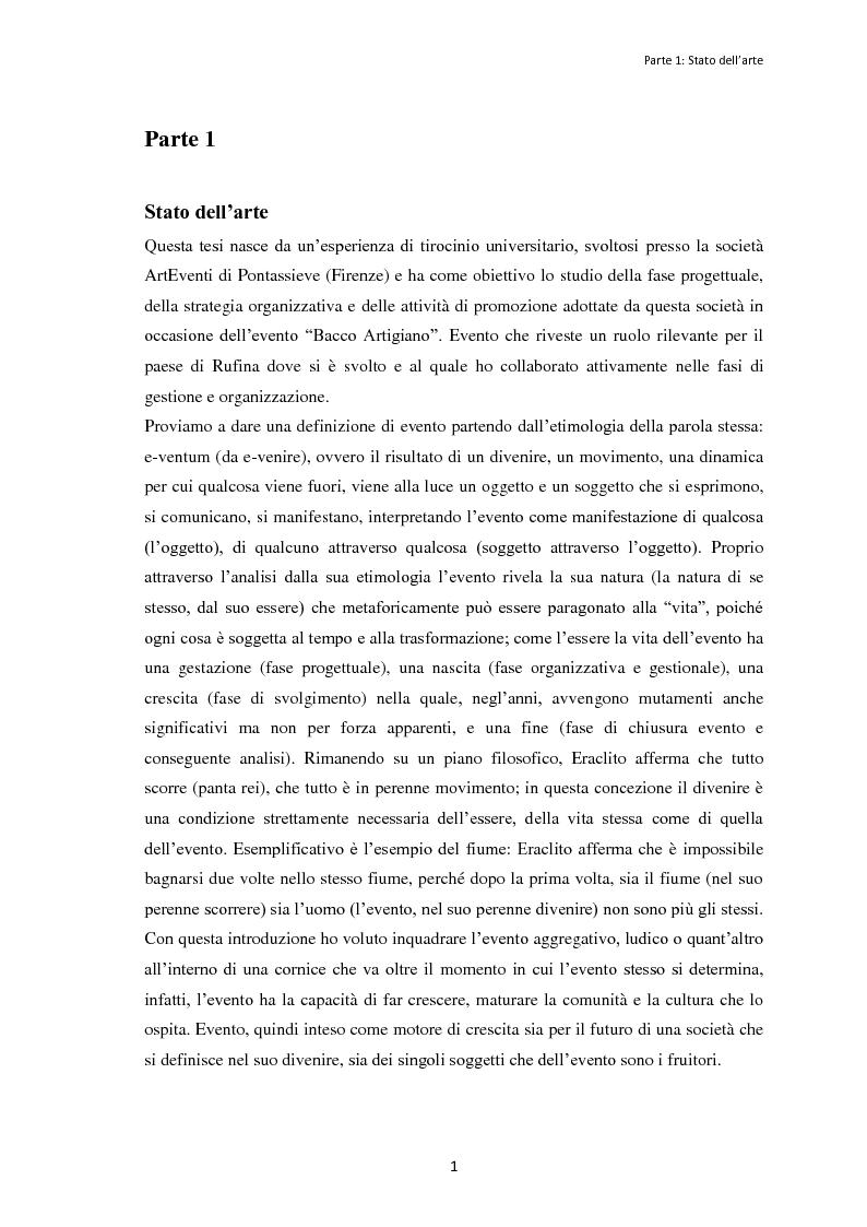 """Anteprima della tesi: Le dinamiche organizzative e gestionali dell'evento """"Bacco Artigiano"""" di Rufina, Pagina 2"""
