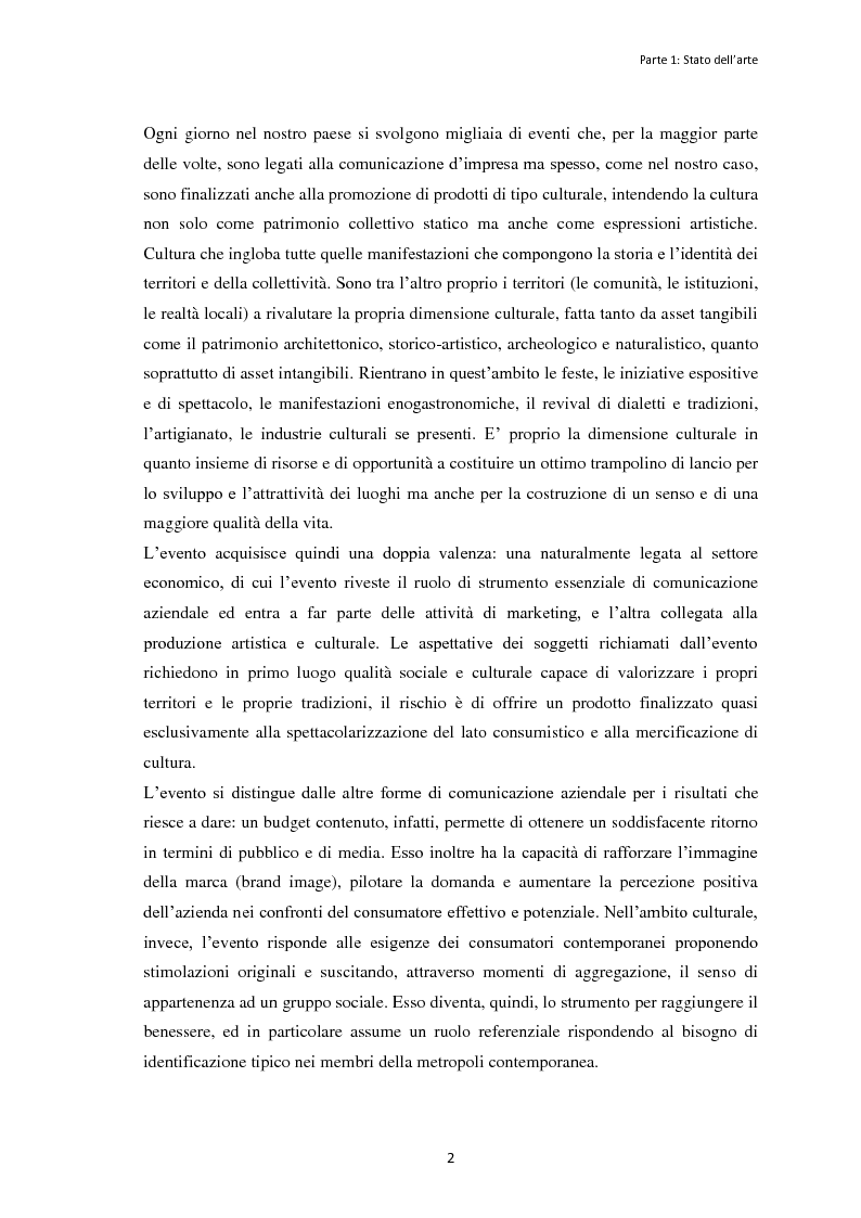 """Anteprima della tesi: Le dinamiche organizzative e gestionali dell'evento """"Bacco Artigiano"""" di Rufina, Pagina 3"""