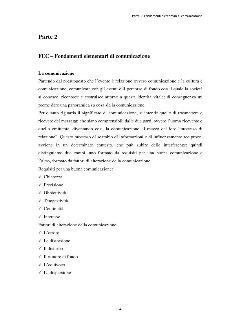 """Anteprima della tesi: Le dinamiche organizzative e gestionali dell'evento """"Bacco Artigiano"""" di Rufina, Pagina 5"""