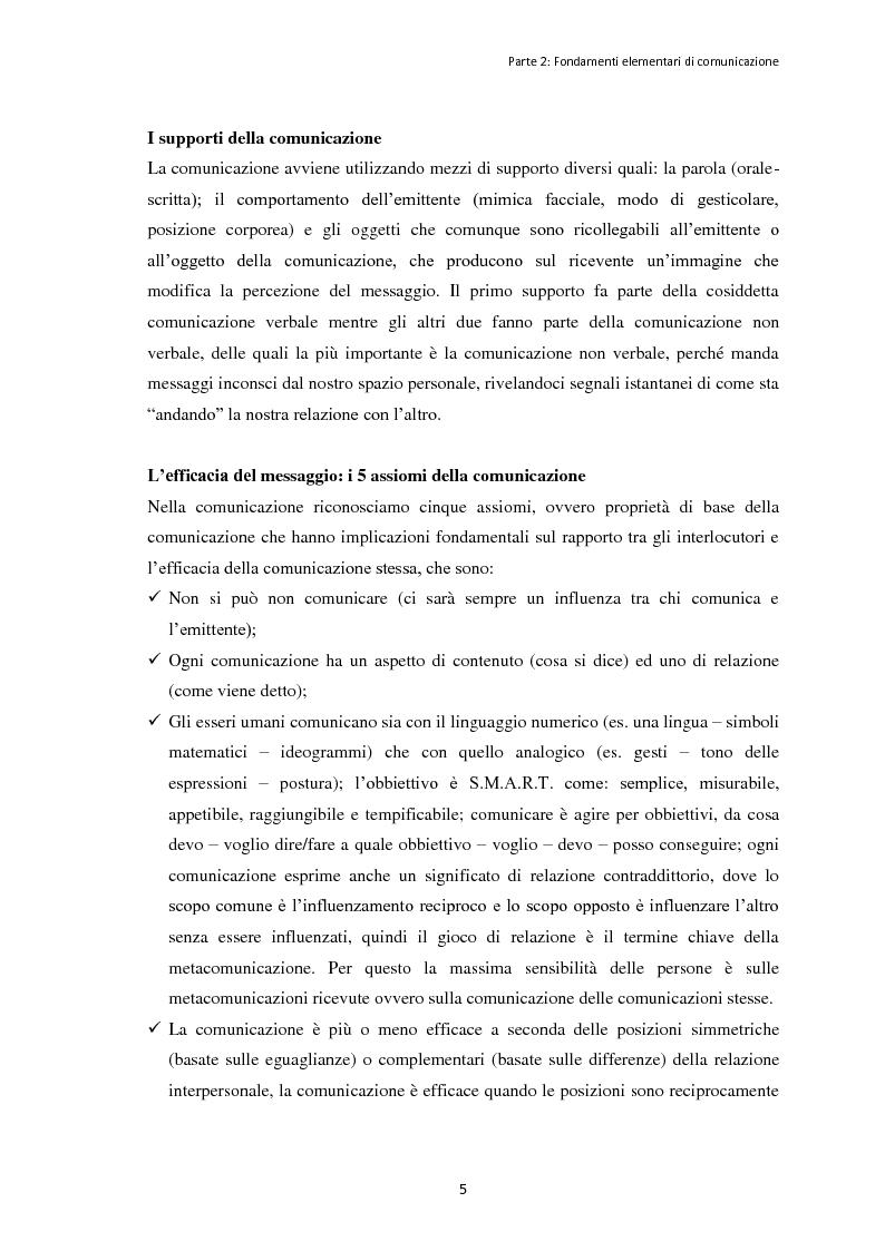 """Anteprima della tesi: Le dinamiche organizzative e gestionali dell'evento """"Bacco Artigiano"""" di Rufina, Pagina 6"""