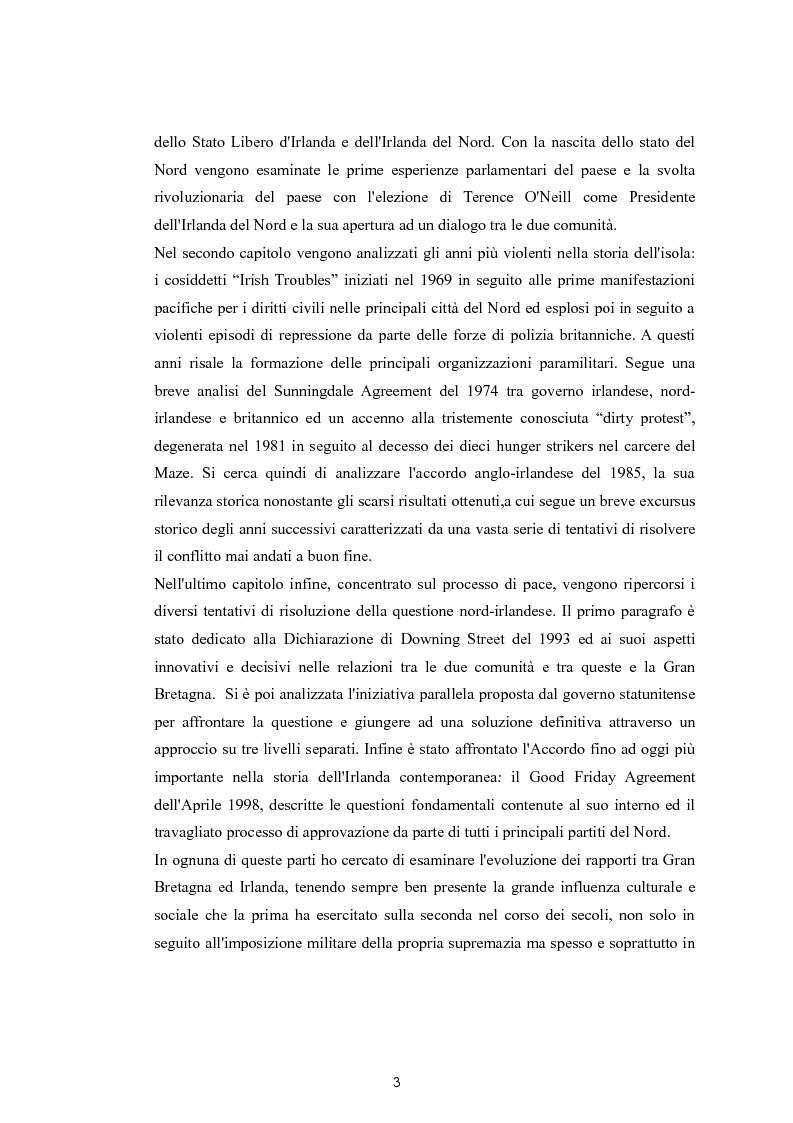 Anteprima della tesi: La questione nazionalista irlandese: analisi del conflitto anglo-irlandese dall'occupazione britannica al processo di pacificazione attuale., Pagina 4