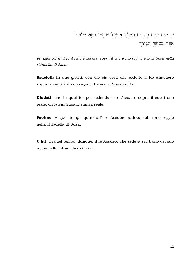 Anteprima della tesi: Il libro di Ester, Pagina 10