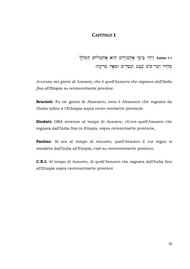 Anteprima della tesi: Il libro di Ester, Pagina 9