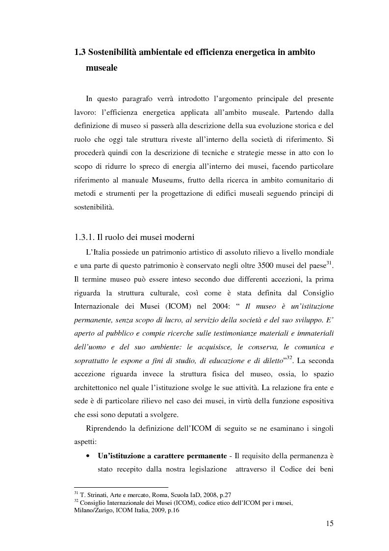 Anteprima della tesi: L'uso appropriato dell'energia nei musei, Pagina 13