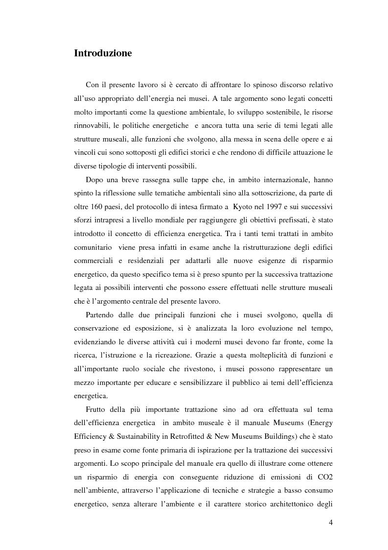 Anteprima della tesi: L'uso appropriato dell'energia nei musei, Pagina 2