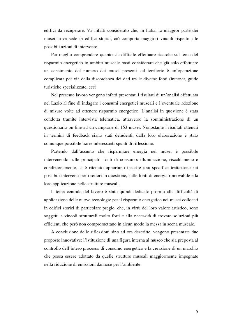 Anteprima della tesi: L'uso appropriato dell'energia nei musei, Pagina 3