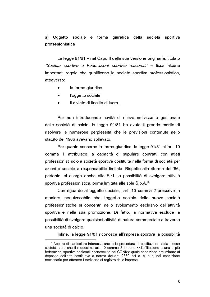 Anteprima della tesi: Il bilancio delle società di calcio: normativa nazionale e principi contabili internazionali. Analisi del caso A.S. ROMA., Pagina 13