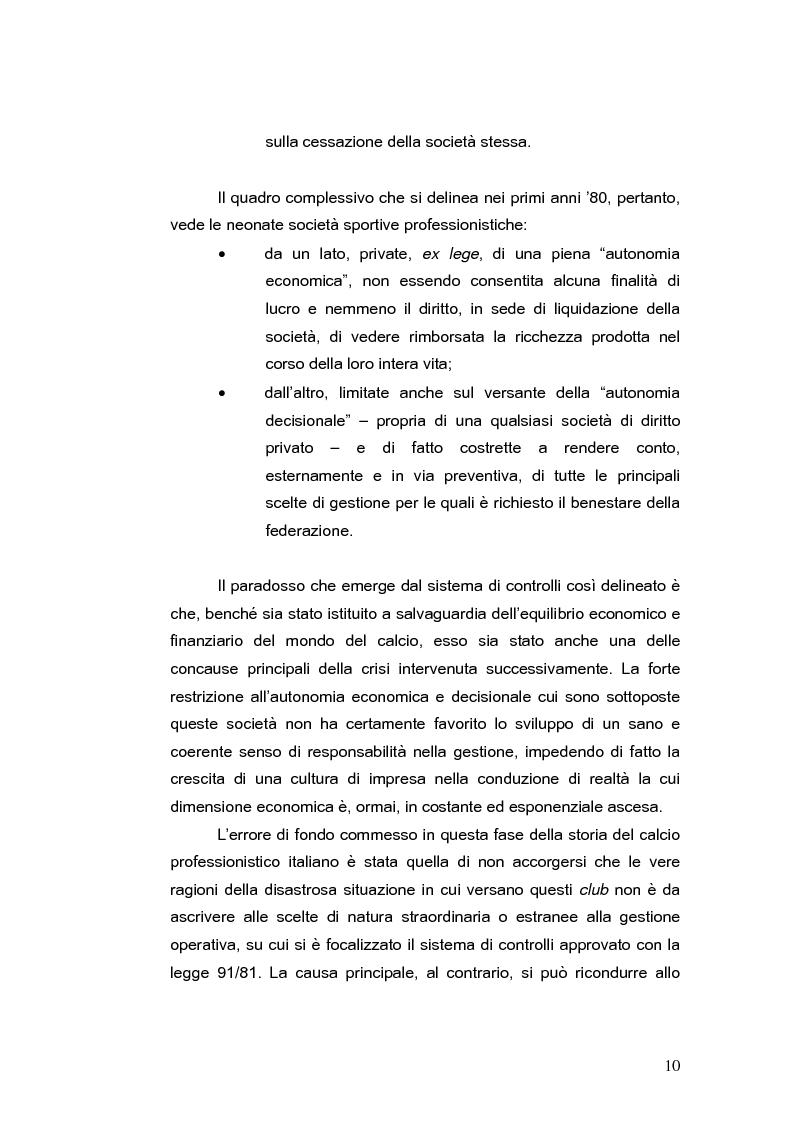 Anteprima della tesi: Il bilancio delle società di calcio: normativa nazionale e principi contabili internazionali. Analisi del caso A.S. ROMA., Pagina 15