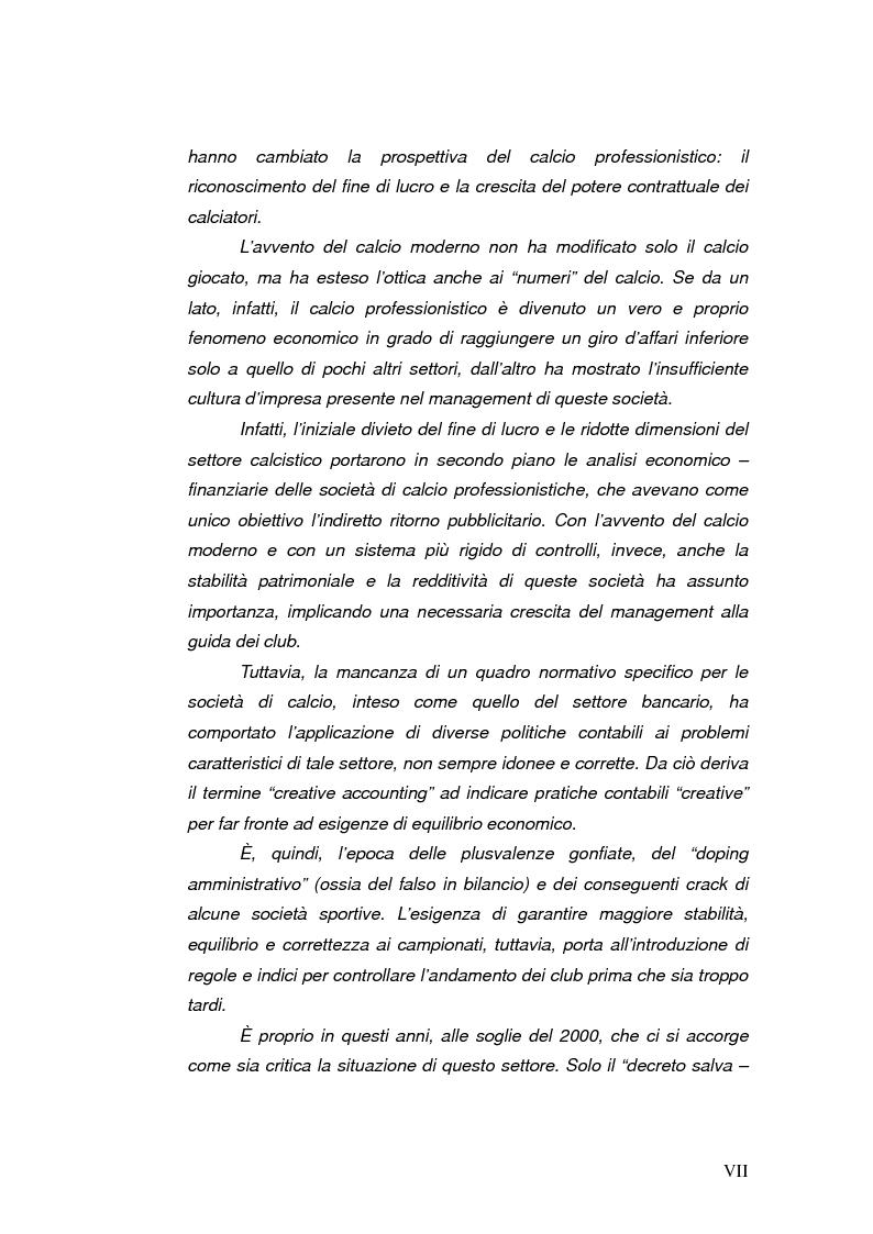 Anteprima della tesi: Il bilancio delle società di calcio: normativa nazionale e principi contabili internazionali. Analisi del caso A.S. ROMA., Pagina 3