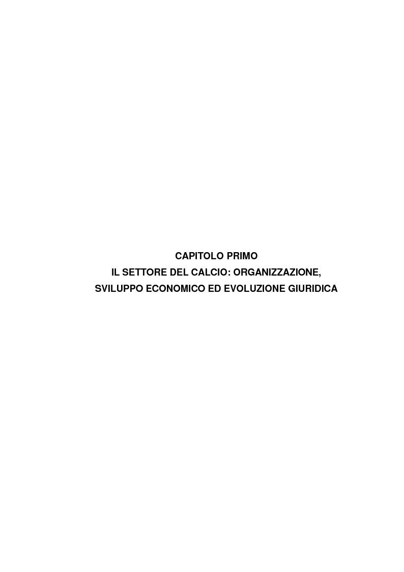 Anteprima della tesi: Il bilancio delle società di calcio: normativa nazionale e principi contabili internazionali. Analisi del caso A.S. ROMA., Pagina 6