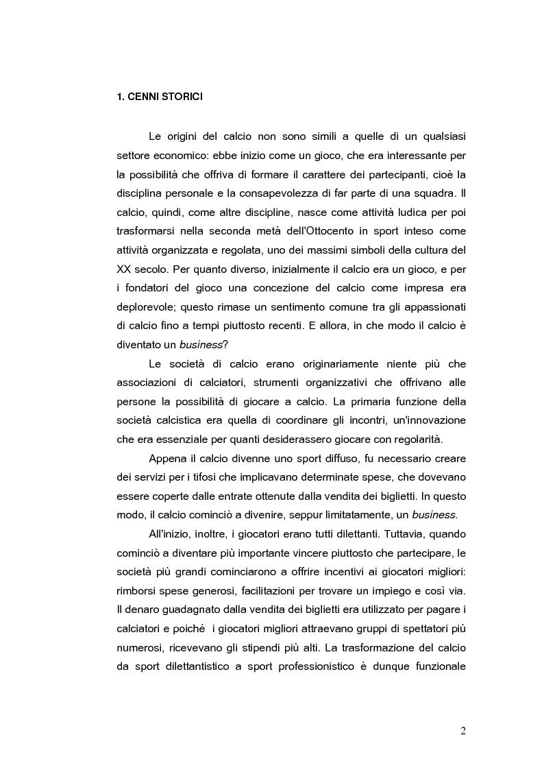 Anteprima della tesi: Il bilancio delle società di calcio: normativa nazionale e principi contabili internazionali. Analisi del caso A.S. ROMA., Pagina 7