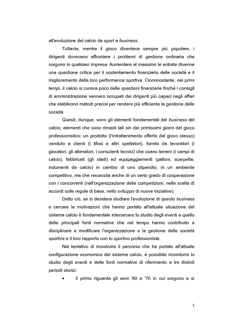 Anteprima della tesi: Il bilancio delle società di calcio: normativa nazionale e principi contabili internazionali. Analisi del caso A.S. ROMA., Pagina 8