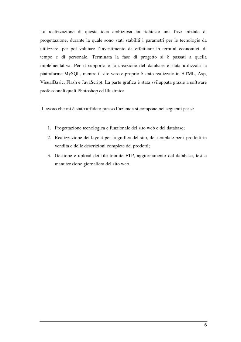 Anteprima della tesi: Studio, realizzazione e gestione di un sito di e-commerce innovativo. Diffusione attraverso i canali internet e new media, seo set-up e analisi, Pagina 3