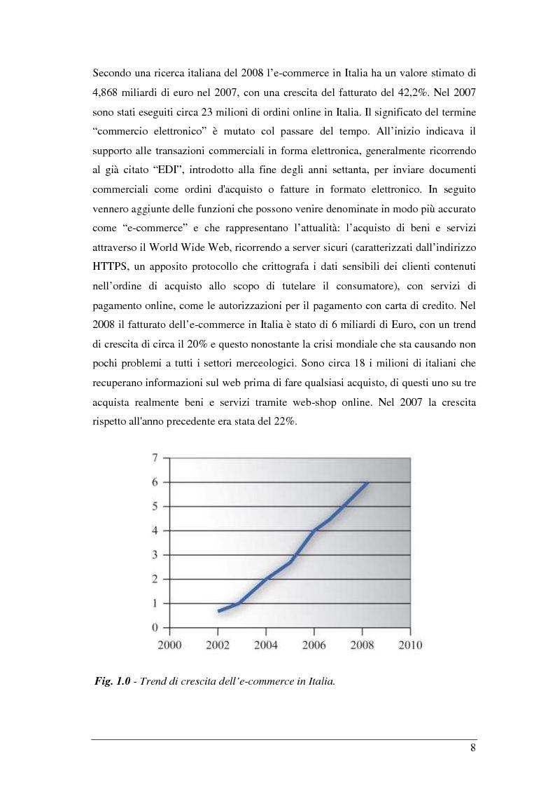 Anteprima della tesi: Studio, realizzazione e gestione di un sito di e-commerce innovativo. Diffusione attraverso i canali internet e new media, seo set-up e analisi, Pagina 5