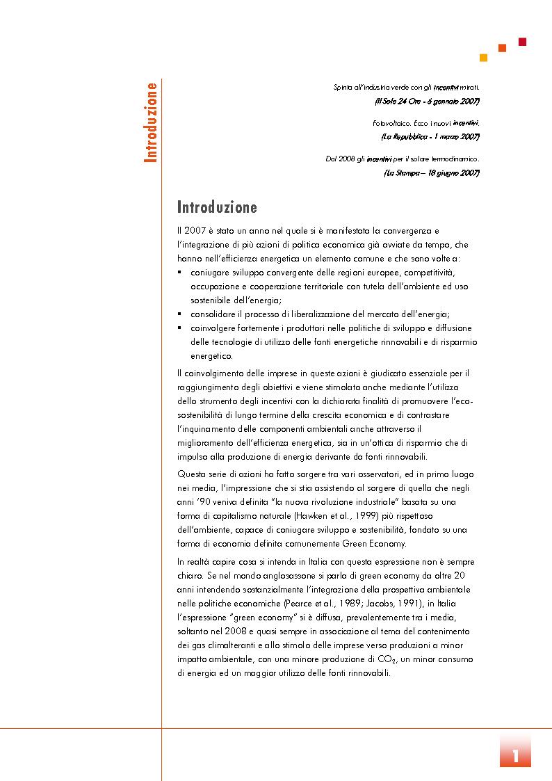 Anteprima della tesi: Un futuro per la Green Economy? Le politiche di sostegno all'economia verde, Pagina 2
