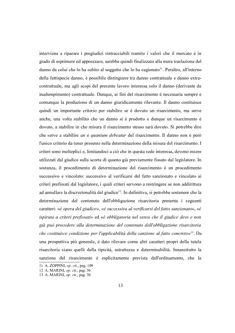 Anteprima della tesi: Clausola penale e caparra confirmatoria nei contratti con i consumatori, Pagina 11