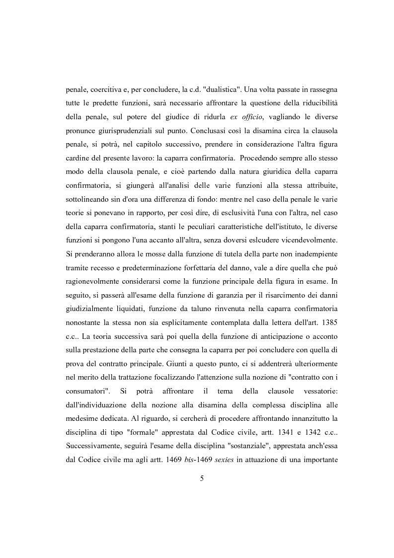 Anteprima della tesi: Clausola penale e caparra confirmatoria nei contratti con i consumatori, Pagina 3