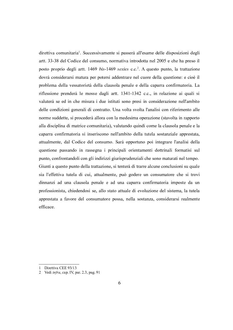 Anteprima della tesi: Clausola penale e caparra confirmatoria nei contratti con i consumatori, Pagina 4