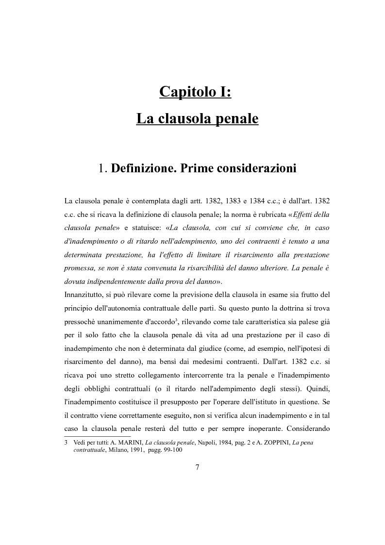 Anteprima della tesi: Clausola penale e caparra confirmatoria nei contratti con i consumatori, Pagina 5