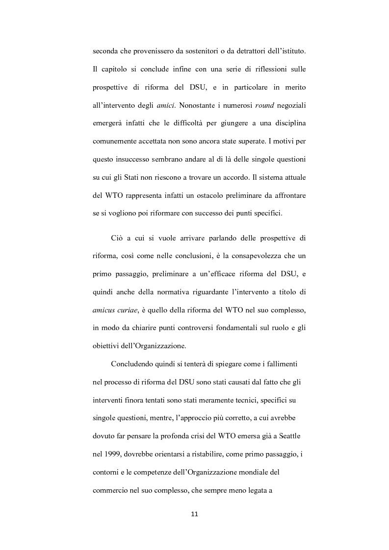 Anteprima della tesi: L' istituto dell'amicus curiae nella funzione giurisdizionale internazionale, Pagina 10