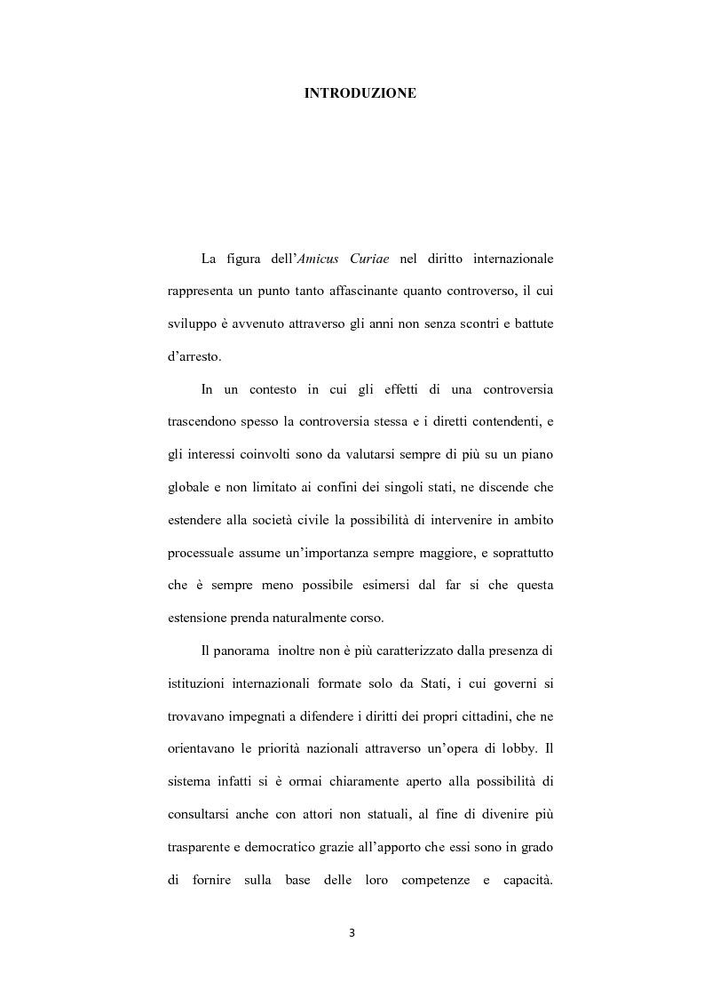 Anteprima della tesi: L' istituto dell'amicus curiae nella funzione giurisdizionale internazionale, Pagina 2