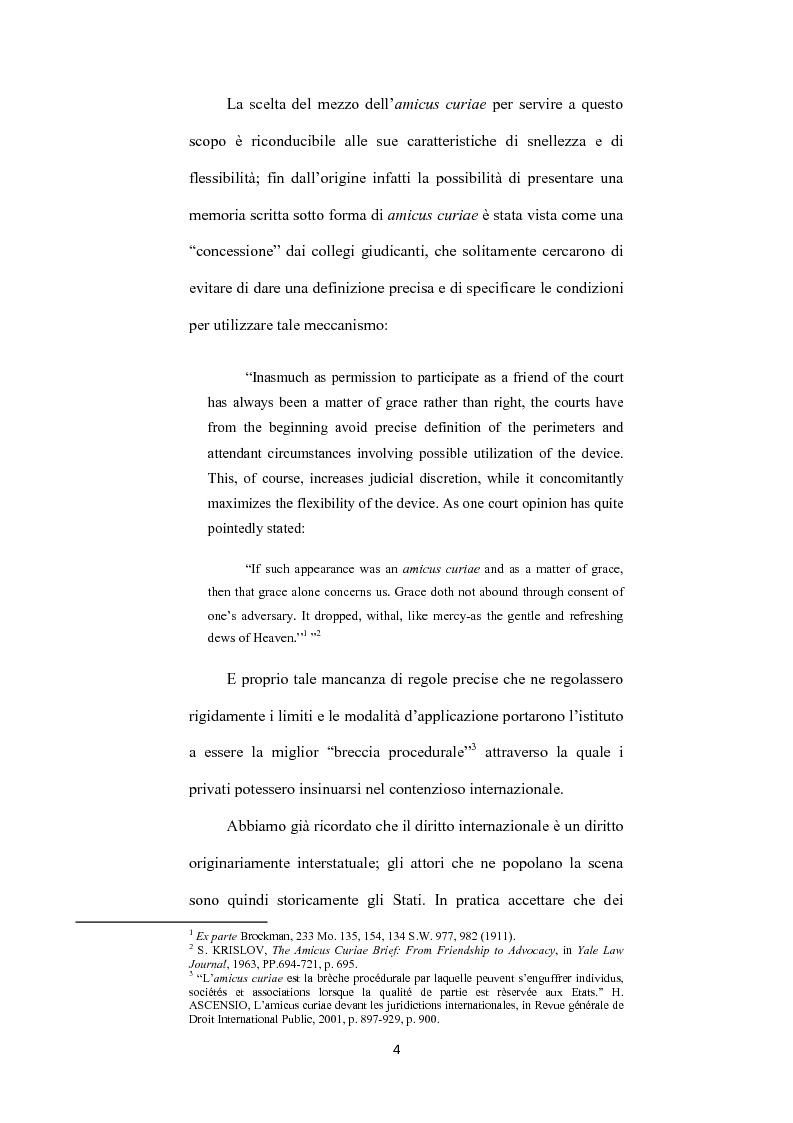 Anteprima della tesi: L' istituto dell'amicus curiae nella funzione giurisdizionale internazionale, Pagina 3