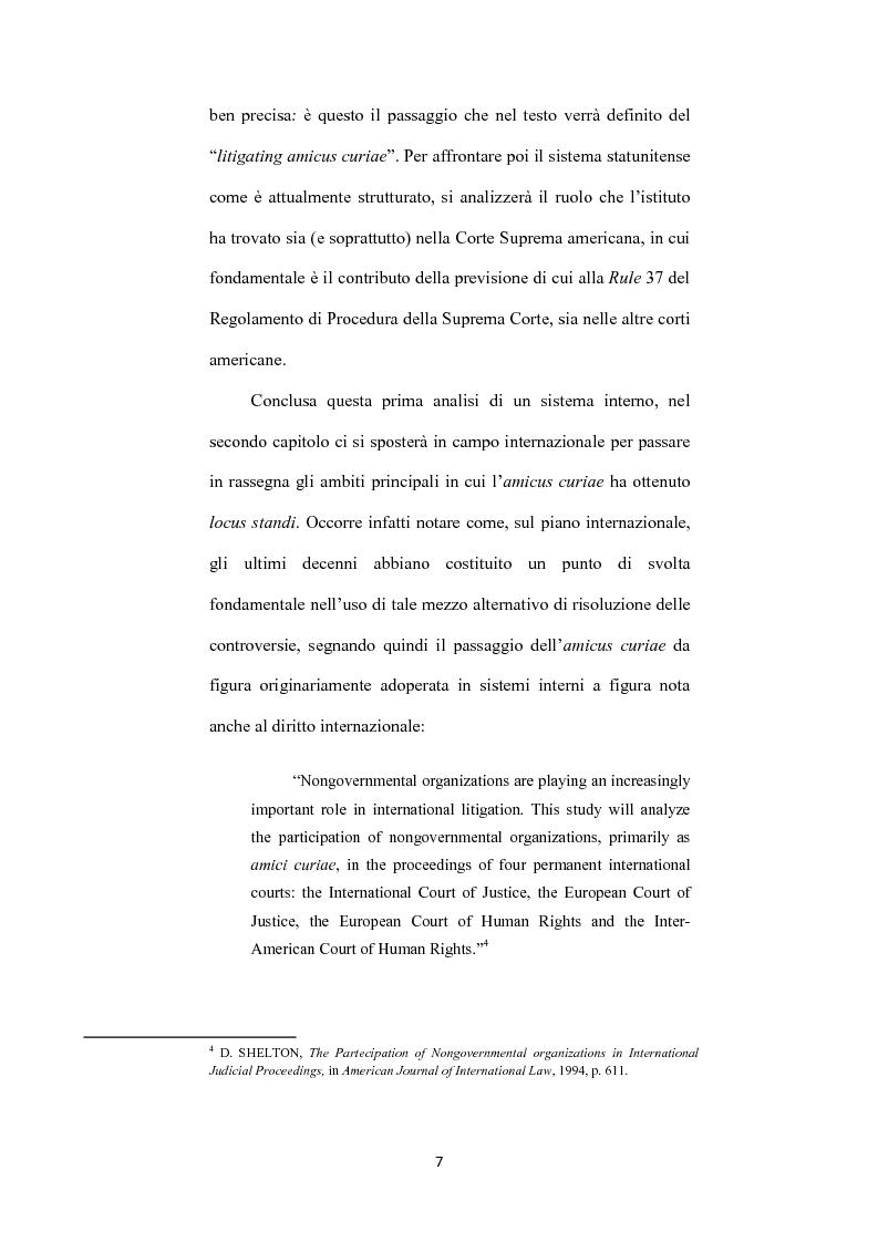 Anteprima della tesi: L' istituto dell'amicus curiae nella funzione giurisdizionale internazionale, Pagina 6