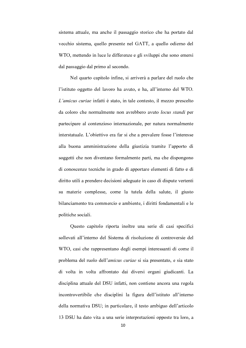 Anteprima della tesi: L' istituto dell'amicus curiae nella funzione giurisdizionale internazionale, Pagina 9
