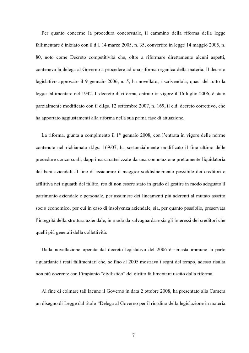 Anteprima della tesi: La riforma della disciplina penale fallimentare, Pagina 3