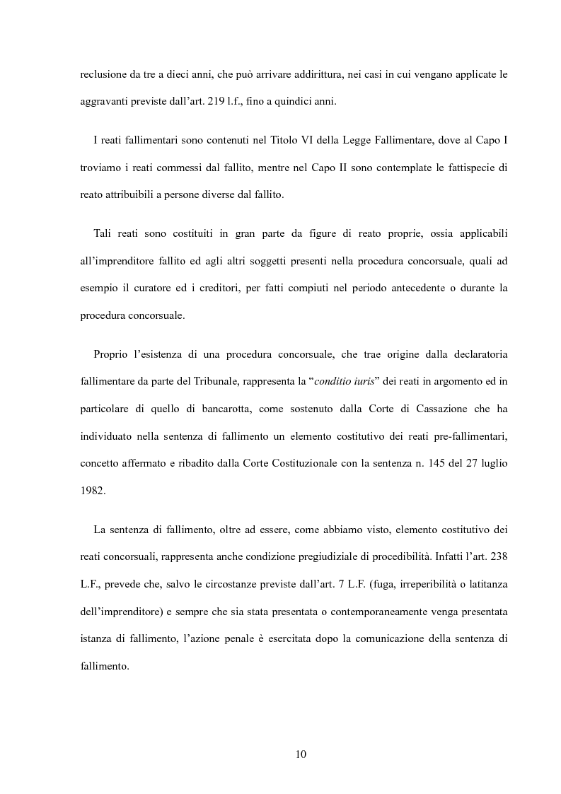 Anteprima della tesi: La riforma della disciplina penale fallimentare, Pagina 6