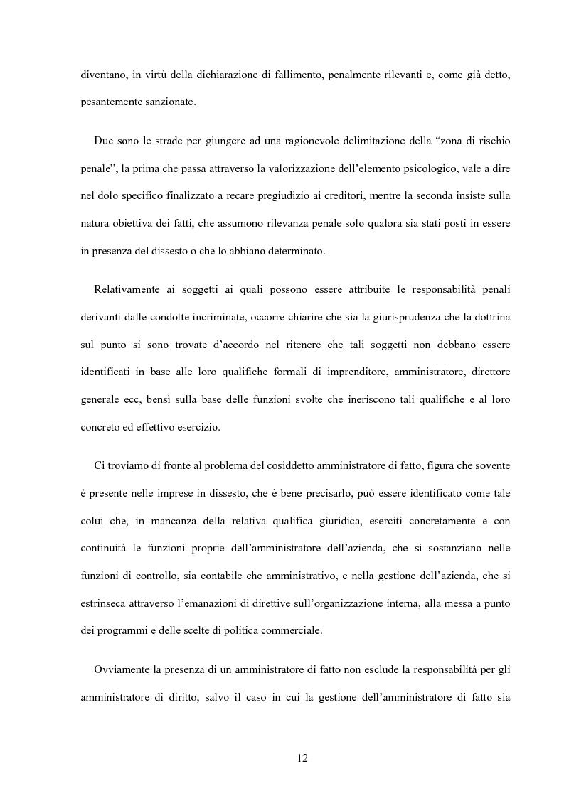 Anteprima della tesi: La riforma della disciplina penale fallimentare, Pagina 8