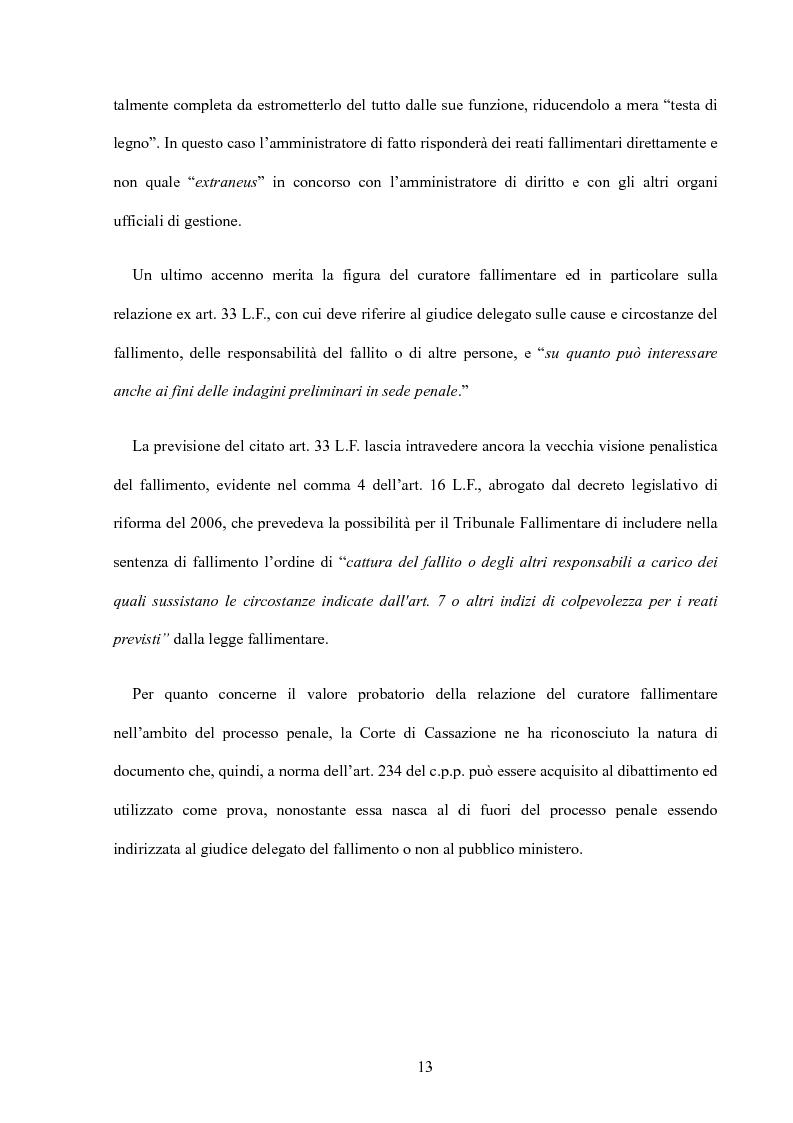 Anteprima della tesi: La riforma della disciplina penale fallimentare, Pagina 9
