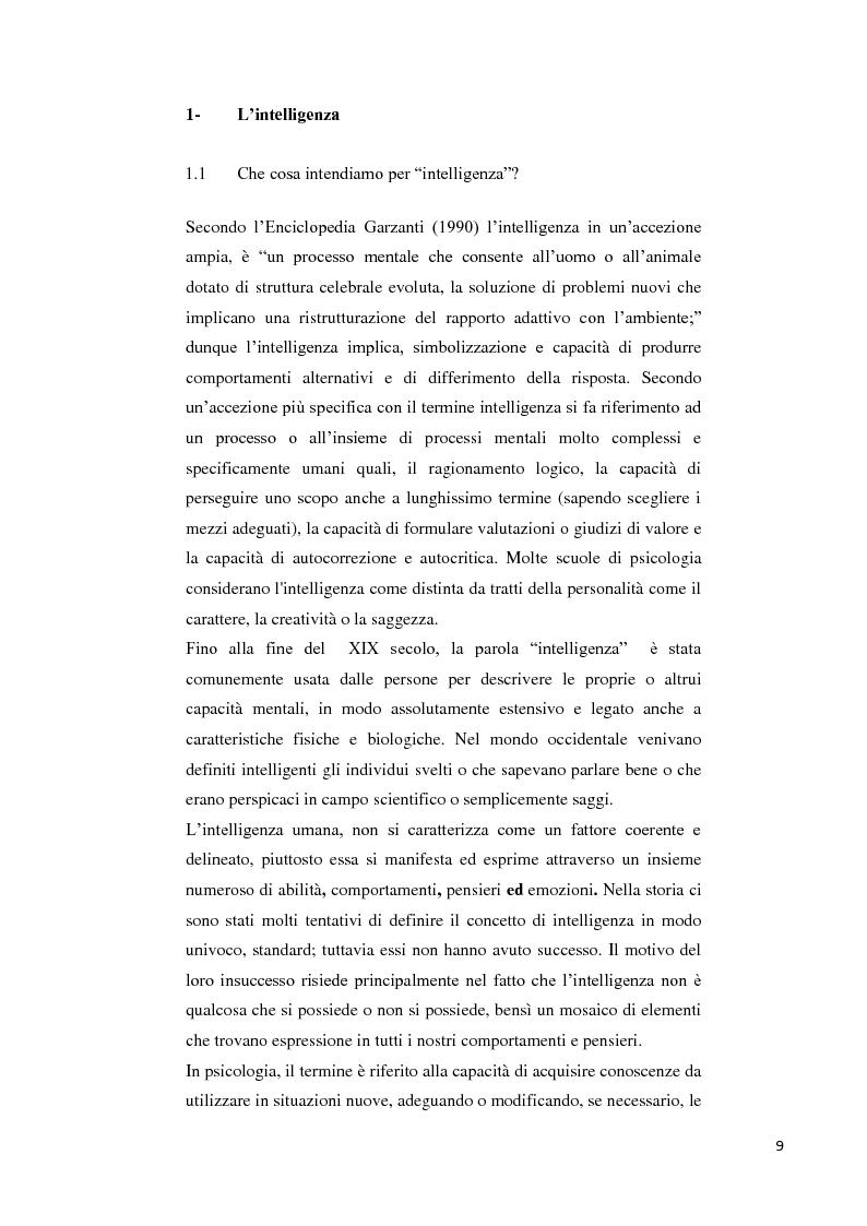 Anteprima della tesi: Contributo alla taratura italiana della WISC IV: analisi dei subtest di performance, Pagina 5